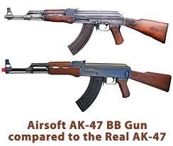 Valódi és airsoft fegyverek